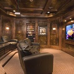 traditional media room by To The T. Interiors