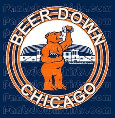 Men's Chicago Bears Navy Blue All Time T-Shirt