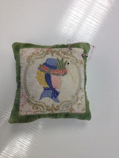 Pin cushion made using a block from Victorian Quilt.  I used the smallest block.  This collection comes in 4 different sizes.   20 different Victorian themed quilt blocks