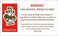 """NO NUTS PLEASE Nut-free families have the important job of educating everyone about what """"nut-free"""" really means. But it's getting easier because there is so much more awareness. Lisa's daughter Joey's allergies taught her everything she knows. No Nuts Please exists to spread knowledge, open dialogue and create awareness! Peanut Allergy, Lisa S, Create Awareness, Nut Free, Allergies, Families, Knowledge, Daughter, Teaching"""
