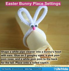 Easter - Easter Bunny Place Settings