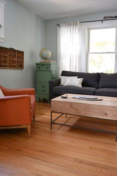 Rustic Storage Coffee Table from West Elm via @Apartment Therapy