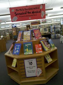 Future Librarian Superhero: On Display--Dr. Seuss and Seussical the Musical
