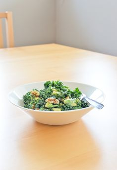 Scandi Home: Greenlicious Kale Salad with Tahini Dressing http://scandifoodie.blogspot.com/2013/09/greenlicious-kale-salad-with-tahini.html