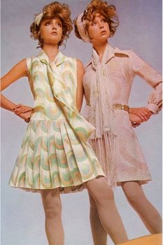 Really want to find something like the dress on the left, ideally in powder blue, for Jessica (Lizi). Photo by Barry Lategan, 1970.