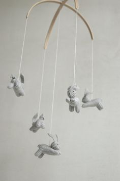 Baby mobile / bunny mobile / rabbit mobile / JOYFUL SPRING ...