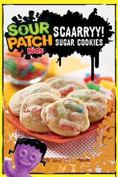 For a delicious treat with a wicked twist, summon some spooky fun with Sour Patch Kids Sugar Cookies. You'll have guests howling with delight! Great for a crowd and preps in only 30 minutes.