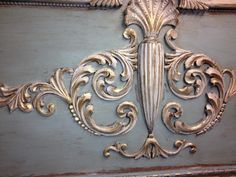 detail of scroll work with metallics