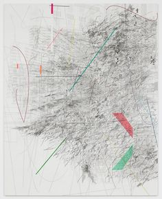 Julia Mehretu #art #frame #inspiration #composition