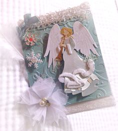 Handmade Christmas Card with Angel