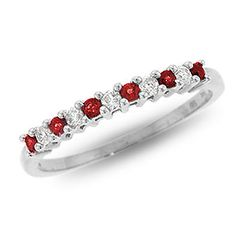 10K white gold with diamonds and rubies!!