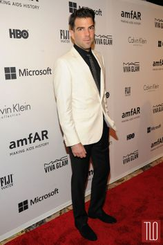 Zachary Quinto at the 2014 amfAR Inspiration Gala