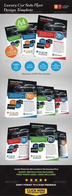 Automotive Car Sale Rental Flyer Ad - car for sale template