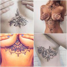 Questões de Opinião: 24 Tatuagens Underboobs Para Você se Inspirar!