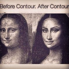 Check out the greatest makeover ever! Kim K West ain't got nothing on this girl right here the one and only Mona Lisa!