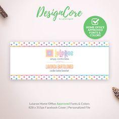 Lularoe Facebook Cover, Home Office Approved, Personalized, Polka Dot Design, Social Media, Digital Files, Lularoe Marketing, DCFBC001