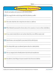 Figurative Language: Find the Hyperbole | Free printable ...