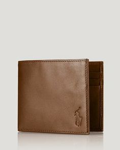 Polo Ralph Lauren Burnished Leather Billfold Wallet // Hukk to find out when it goes on sale! #hukkster #PoloRalphLauren
