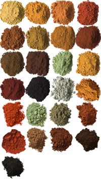 Natural pigments for painting from the Earth Pigments company. They also sell natural binders and have recipes and lots of information on their website.