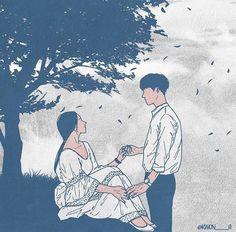 Art Love Couple, Cute Couple Drawings, Anime Love Couple, Love Art, Couple Cartoon, Couple Illustration, Illustration Art, Romantic Drawing, Romantic Anime Couples