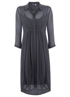 Steel Cocoon Shirt Dress