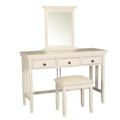 Buy Savannah Solid Acacia Wood Dressing Table in Ivory from Furniture123 - the UK's leading online furniture and bed store