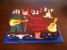 Country music lover cake