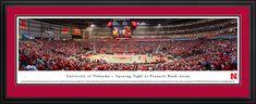 Nebraska Huskers Panoramic - Pinnacle Bank Arena Picture $199.95