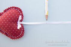 Móvil de corazones para la cuna del bebé - Guía de MANUALIDADES Crib Mobiles, Garlands, Hearts, Bebe
