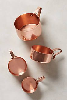 Rose gold measuring cups from the shabby chic kitchen collection