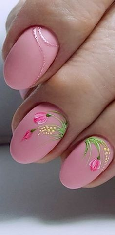 Sweet Pink Nail Design Ideas for a Manicure Ideas Part 22 ; pink nails with glitter accent; pink nails with rhinestones; Stiletto Nails, Coffin Nails, Acrylic Nails, Gel Nails, Nail Art Designs, Nails Design, Cute Nails, Pretty Nails, Shaved Hair Designs