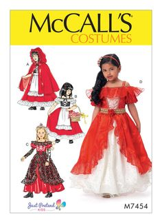 Princess Elena of Avalor Costume Pattern. Cheapest Shipping. Día de Muertos Costume Pattern. McCall's 6897. Child Sz:3-8 New. Uncut. by FashionSew on Etsy