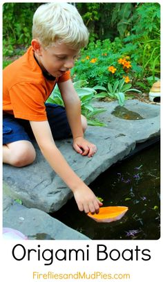 I love how I create my imagination about creating boat origami then put it on the pond..:)