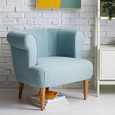 Sadie Arm Chair #westelm for in front of the fireplace.