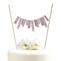 Floral Design Cake Bunting by Ginger Ray, the perfect gift for Explore more unique gifts in our curated marketplace. Bolo Floral, Floral Cake, Festival Garden Party, Pancakes And Pajamas, Cake Bunting, Cake Accessories, Rose Pastel, Fancy Party, Party Cakes