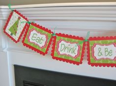 Christmas Eat Drink & Be Merry Banner