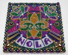 Image result for mardi gras bead art
