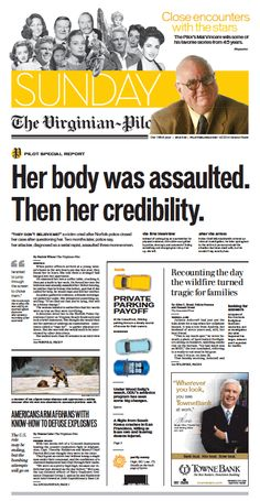 The Virginian-Pilot's front page for Sunday, July 7, 2013.
