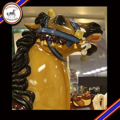 This is Cubby, one of our hand carved wooden horses that will go on the carousel. Photo by Katy Levesque 2013.