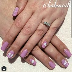 IG @babsnails Two Birds Lacquer with stamped hearts
