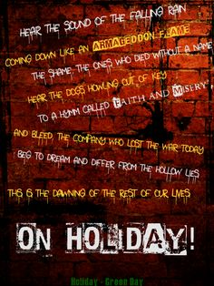 Holiday by Green Day.... I went to my cousin's last homecoming dance with her, and when this song came on, there was some emo-looking kid who'd climbed the bleachers and was dancing up there.