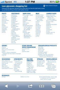 low glycemic index list of foods - hypoglycemic diet Low Gi Diet, Low Glycemic Index Foods, Low Glycemic Diet Plan, Eat Better, Food Charts, Trainer, Food Lists, Pcos Food List, Best Weight Loss