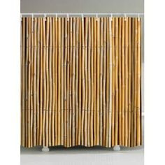 Bamboo Printed Extra Long Shower Curtain
