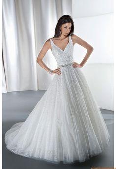 ee56639a3c3e V-neckline Straps tulle dress Wedding Dress 2013
