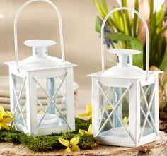 Luminous Mini-Lantern Wedding Favors and Name Holder