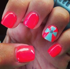 Who said only those with long nails get to stand out? You can also look trendy and step out if you have short nails! Fancy Nails, Love Nails, Diy Nails, How To Do Nails, Pretty Nails, Nail Art Designs, Fingernail Designs, Easter Nail Designs, Nails Design