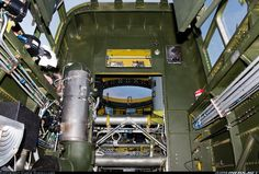 Northrop P-61B Black Widow N550NF / 42-39445 (cn 964) Looking towards the rear of the Black Widow through where the gunner's chair would be. The hole in the back is where the GE remote-controlled power turret was located; which could be operated by both the front and rear (radio operator) gunners as well as the the pilot.