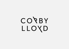 Corby Lloyd logo design by FoundryCo in Logotype Typo Logo, Typographic Logo, Self Branding, Logo Branding, Corporate Branding, Personal Branding, Logo Inspiration, Brand Identity Design, Branding Design