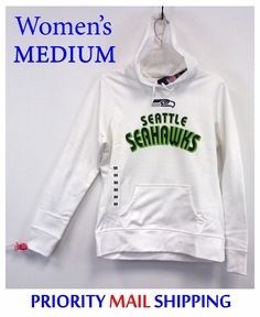 86c8a93bb Seattle Seahawks Ladies Hoodie MEDIUM Majestic Fan Fashion Pullover NWT   55RET  MajesticFanFashion  Pullover  SeattleSeahawks  Seahawks