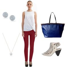 """""""Outfit Inspiration: Professional Chic 4th Of July Look!"""" by styleshack on Polyvore #redwhiteandblue"""